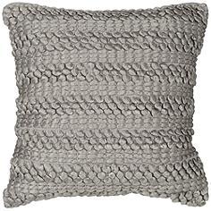 "Nourison Life Styles Silver Gray Ridge 20"" Square Pillow"