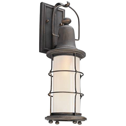 "Maritime 19 1/2"" High Vintage Bronze LED Outdoor Wall Light"