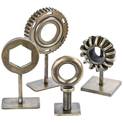 Regina Andrew Design Brass Mechanic Hardware 4-Pc Accent Set