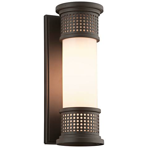 "Mcqueen 13"" High Coastal Bronze Outdoor Wall Light"
