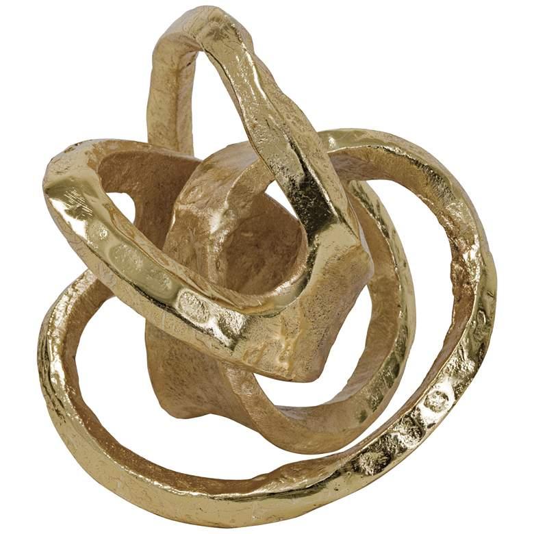 "Regina Andrew Design 7"" High Knot Gold Tabletop Sculpture"