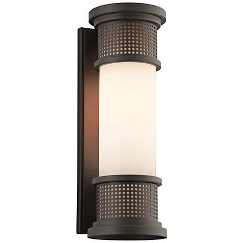 """Mcqueen 18 3/4"""" High Bronze LED Outdoor Wall Light"""