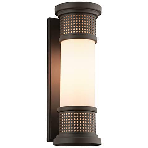 """Mcqueen 16 1/4"""" High Coastal Bronze LED Outdoor Wall Light"""