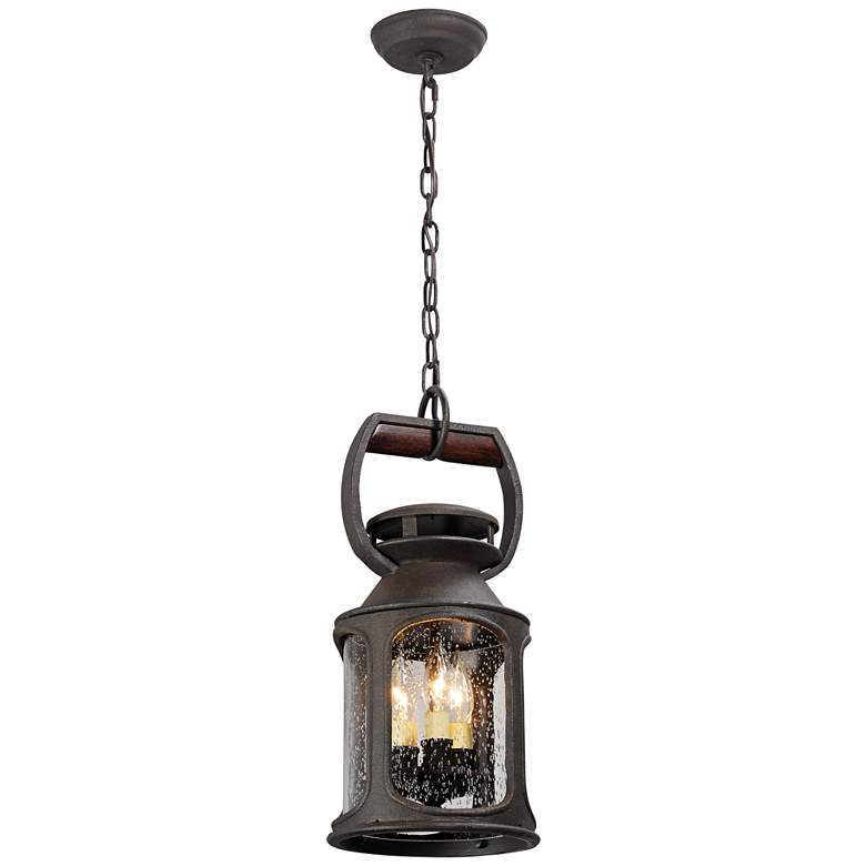 """Old Trail 19""""H Centennial Rust Outdoor Hanging Light"""