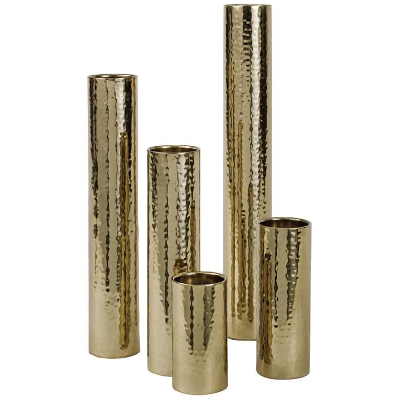 Regina Andrew Design Gold Candle Holder/Bud Vase Set