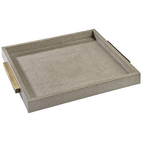 Regina Andrew Design Ivory-Gray Shagreen Square Tray