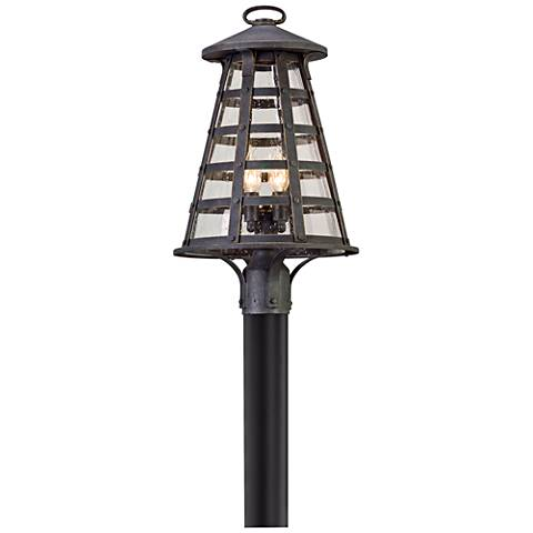 "Benjamin 20 3/4"" High Vintage Iron Outdoor Post Light"