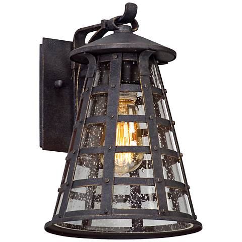 "Benjamin 11 1/2"" High Vintage Iron Outdoor Wall Light"