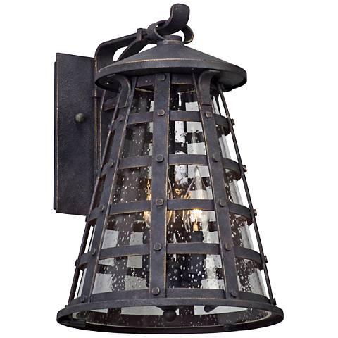 "Benjamin 14 1/4"" High Vintage Iron Outdoor Wall Light"