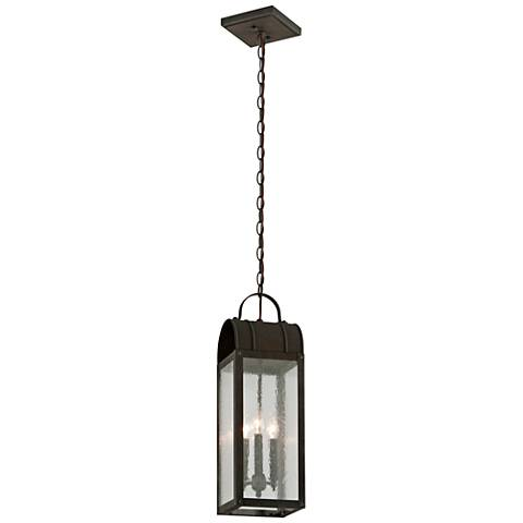 "Bostonian 23 1/4""H Charred Iron Outdoor Hanging Light"