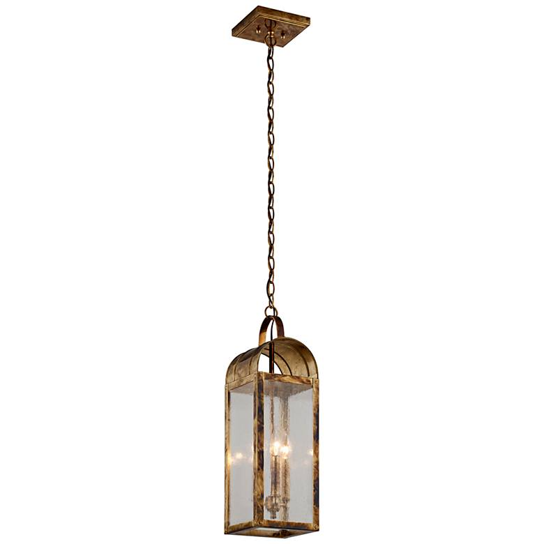 "Bostonian 23 1/4""H Historic Brass Outdoor Hanging Light"
