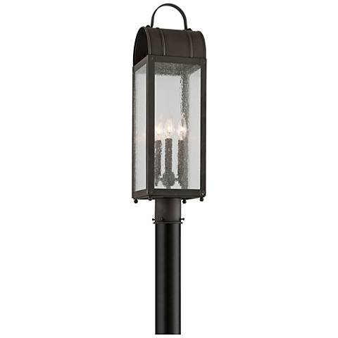 "Bostonian 22"" High Charred Iron Outdoor Post Light"