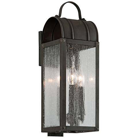 "Bostonian 19"" High Charred Iron Outdoor Wall Light"