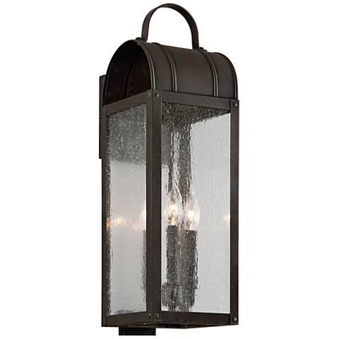"Bostonian 22 1/4"" High Charred Iron Outdoor Wall Light"