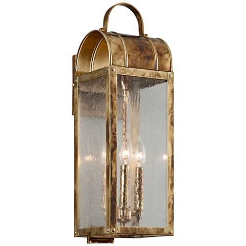 "Bostonian 22 1/4"" High Historic Brass Outdoor Wall Light"