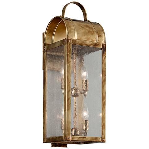 "Bostonian 23"" High Historic Brass Outdoor Wall Light"