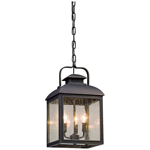 "Chamberlain 17 3/4""H Vintage Bronze Outdoor Hanging Light"
