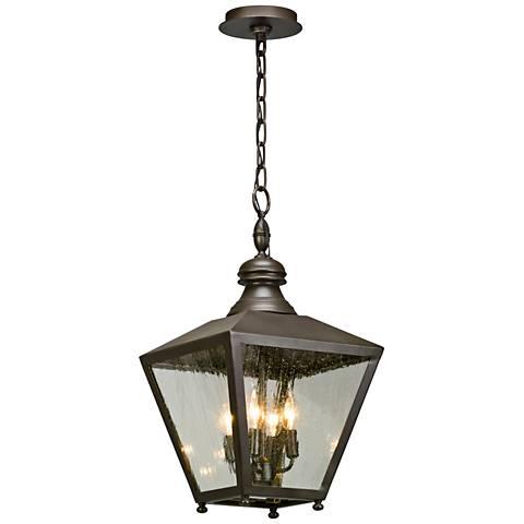 "Mumford 22""H Bronze Outdoor Hanging Light"