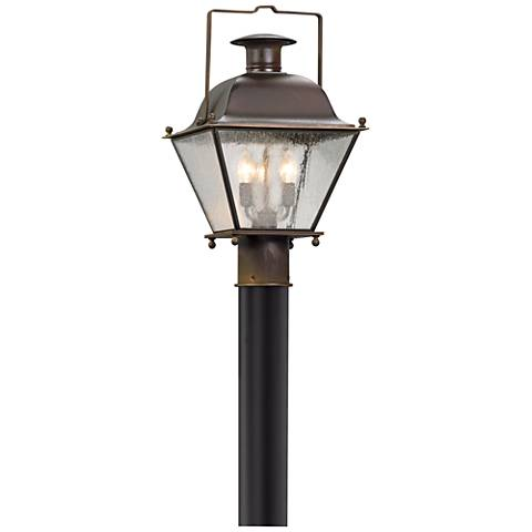 "Wellesley 17 1/2"" High Natural Rust Outdoor Post Light"