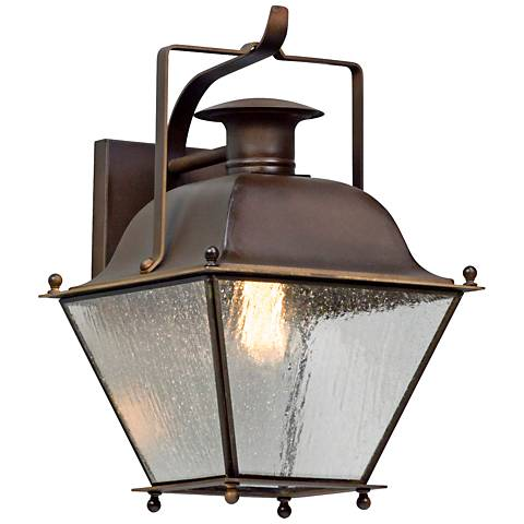 """Wellesley 16"""" High Natural Rust Outdoor Wall Light"""
