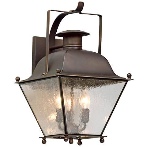 """Wellesley 19"""" High Natural Rust Outdoor Wall Light"""