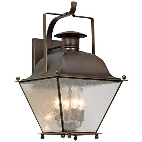 "Wellesley 23 1/2"" High Natural Rust Outdoor Wall Light"