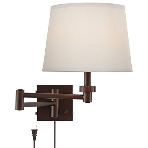 Vero Oil-Rubbed Bronze Plug-In Swing Arm Wall Lamp with USB