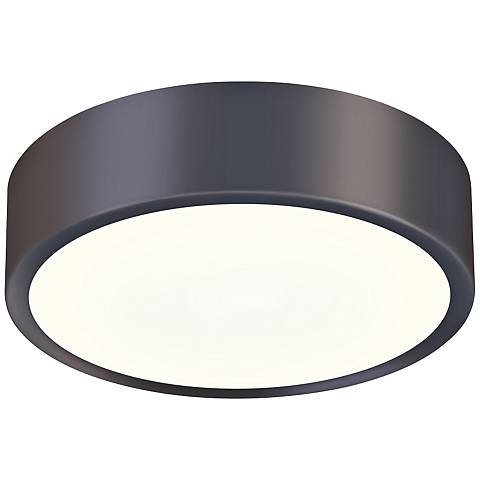 "Sonneman Pi 8"" Wide Black Bronze LED Ceiling Light"