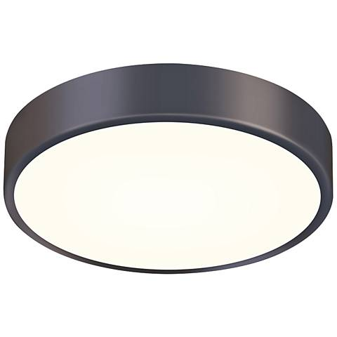 "Sonneman Pi 12"" Wide Black Bronze LED Ceiling Light"