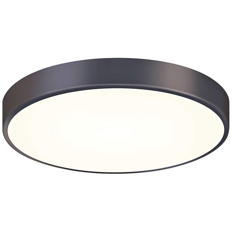 """Sonneman Pi 16"""" Wide Black Bronze LED Ceiling Light"""