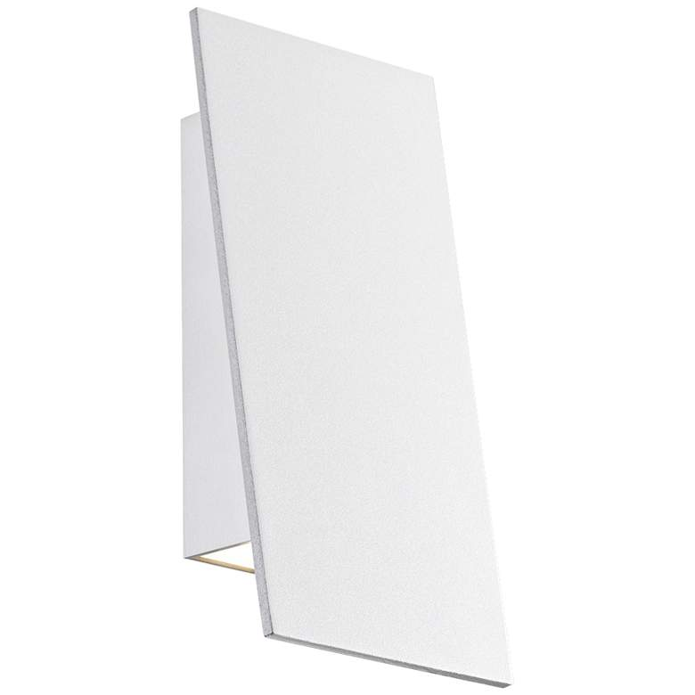 "Angled Plane 7 3/4""H White Narrow LED Outdoor"
