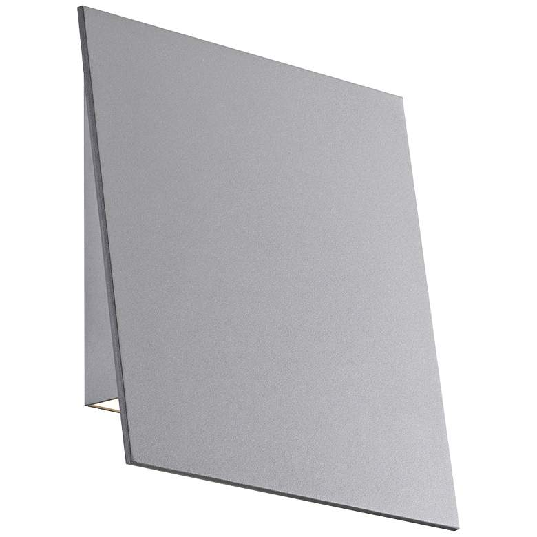 "Angled Plane 7 3/4""H Textured Gray LED Outdoor"
