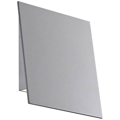 "Angled Plane 7 3/4""H Textured Gray LED Outdoor Wall Light"
