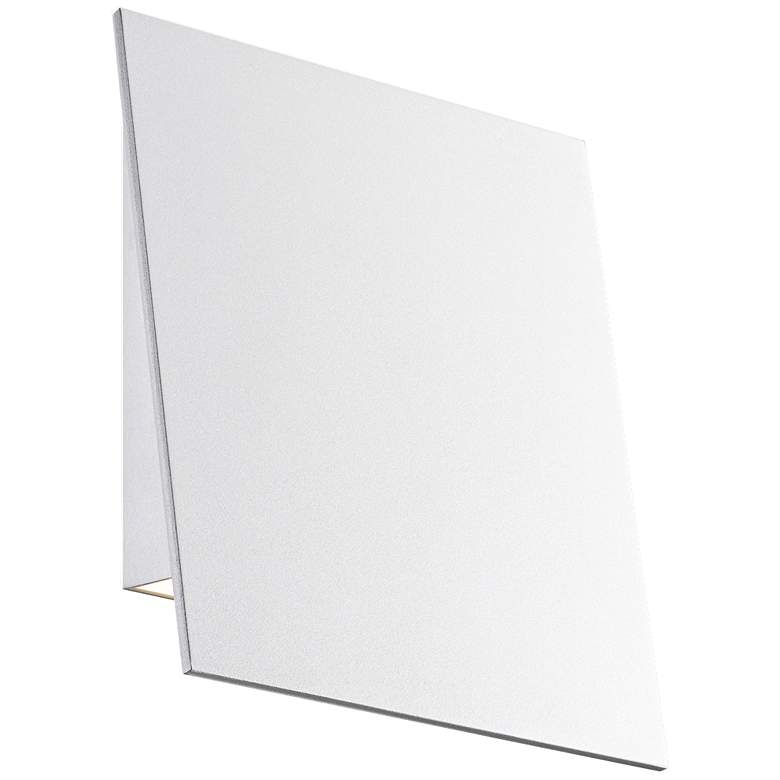 """Angled Plane 7 3/4""""H Textured White LED Outdoor Wall Light"""