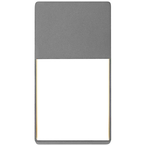 "Light Frames 13""H Textured Gray LED Outdoor Wall Light"