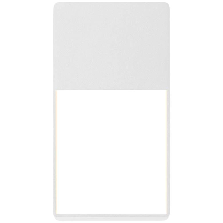 "Light Frames 13""H Textured White LED Outdoor Wall Light"