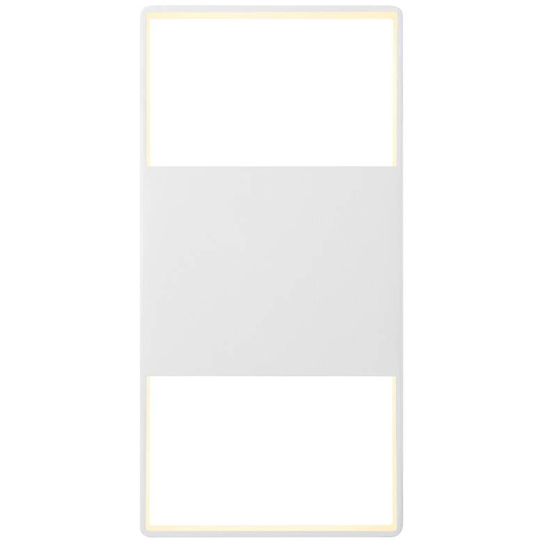 """Light Frames 14""""H Textured White LED Outdoor Wall"""