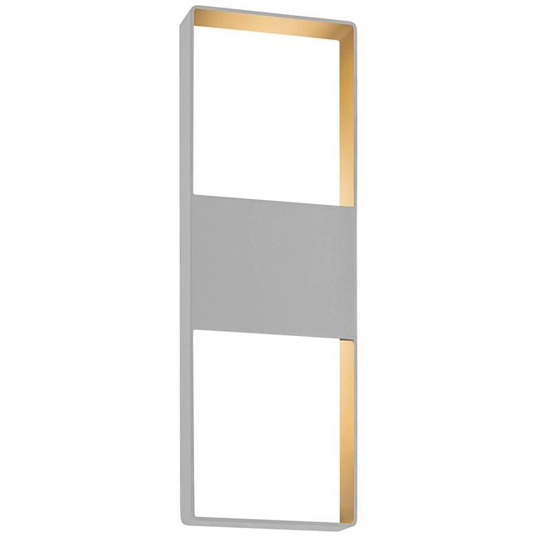 "Light Frames 21""H Textured Gray LED Outdoor Wall Light"
