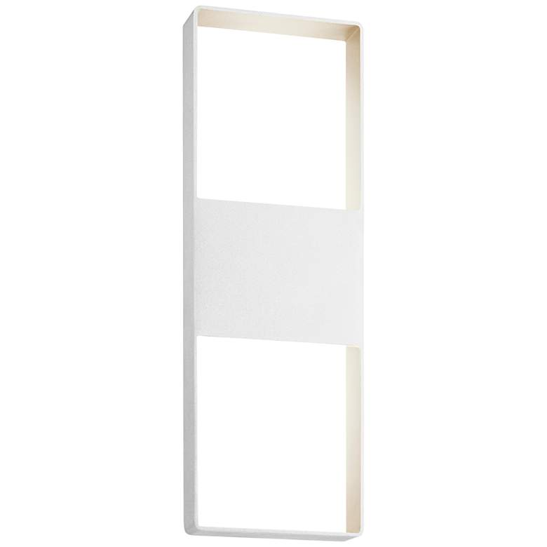 """Light Frames 21""""H Textured White LED Outdoor Wall"""