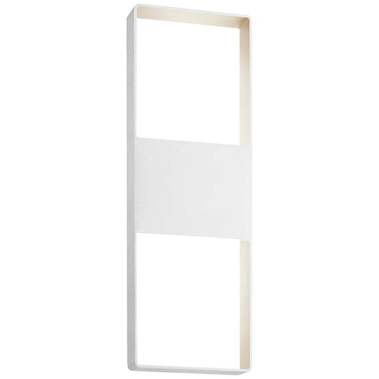 "Light Frames 21""H Textured White LED Outdoor Wall Light"