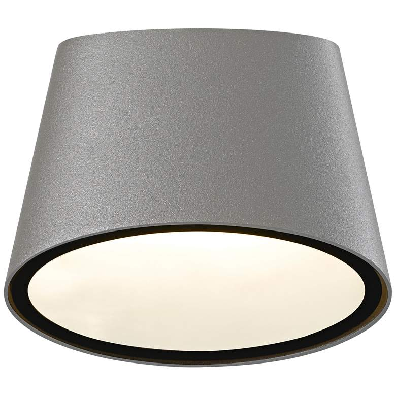 """Elips 5 1/4"""" High Textured Gray LED Outdoor"""