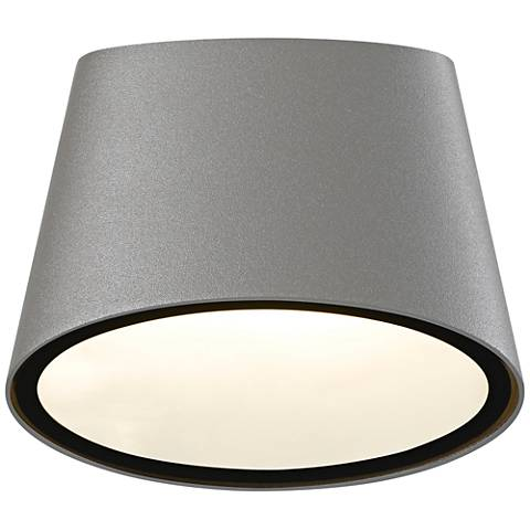 "Elips 5 1/4"" High Textured Gray LED Outdoor Wall Light"