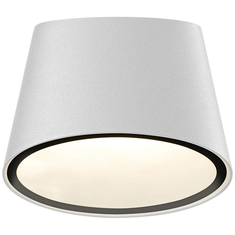 """Elips 5 1/4""""H Textured White LED Outdoor Wall Light"""