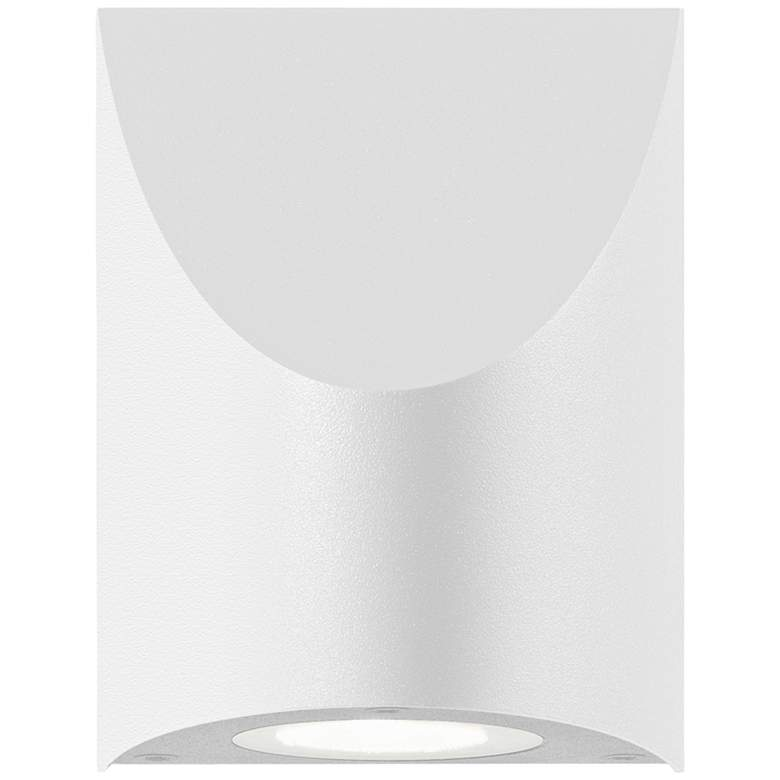 """Shear 4 3/4""""H Textured White LED Outdoor Wall Light"""