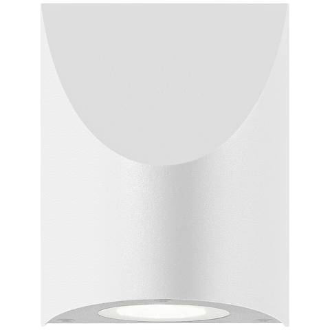 "Shear 4 3/4""H Textured White LED Outdoor Wall Light"