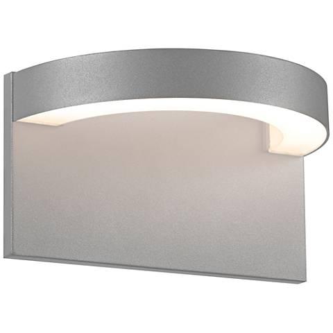 """Sonneman Cusp 5 1/4""""H Textured Gray LED Outdoor Wall Light"""
