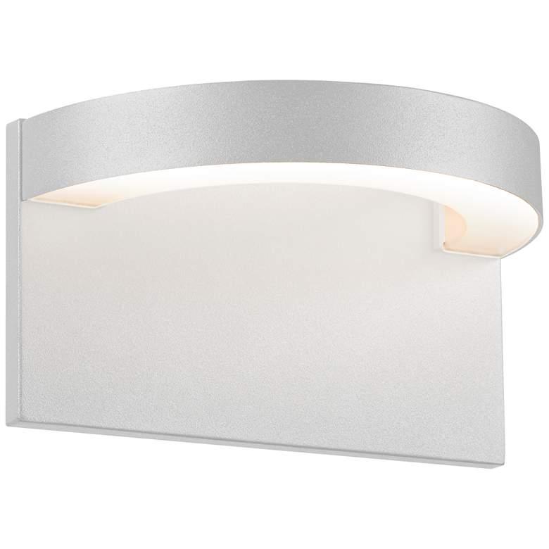 "Sonneman Cusp 5 1/4""H Textured White LED Outdoor Wall Light"
