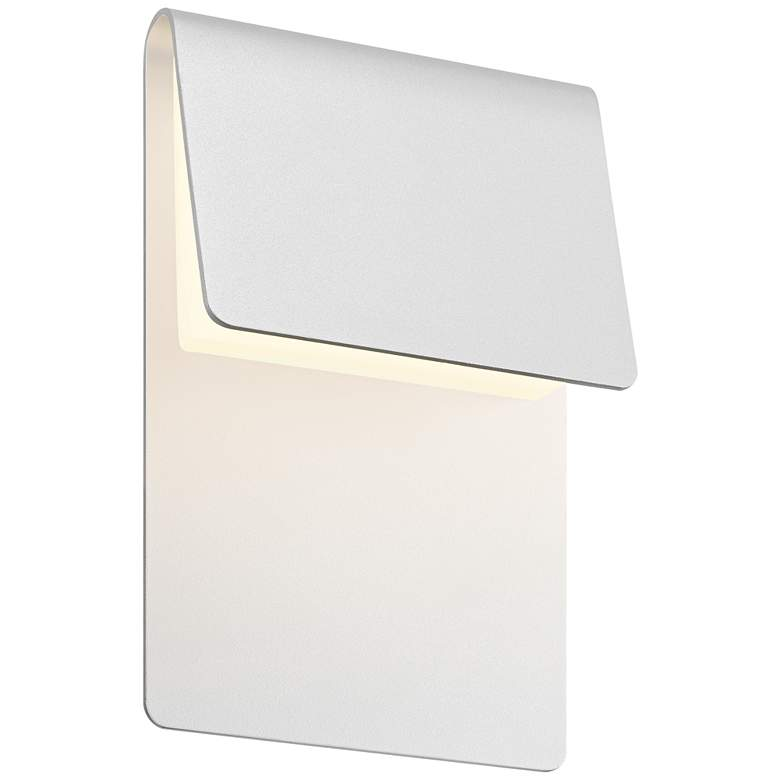"""Sonneman Ply 11""""H Textured White LED Outdoor Wall Light"""