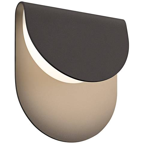 "Sonneman Cape 8""H Textured Bronze LED Outdoor Wall Light"