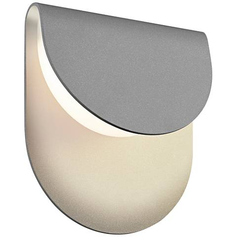 "Sonneman Cape 8""H Textured Gray LED Outdoor Wall Light"